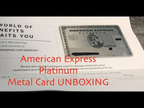 American Express AMEX Platinum METAL CARD UNBOXING