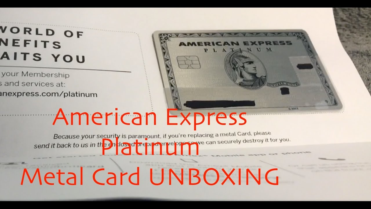 American Express AMEX Platinum METAL CARD UNBOXING - YouTube