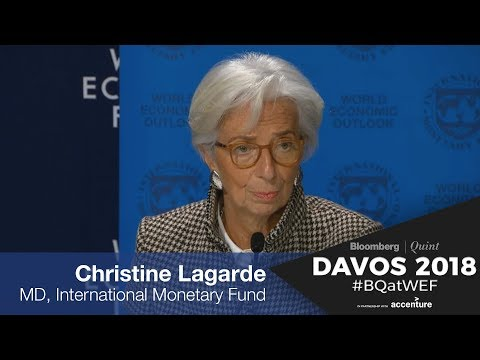 WEF 2018: Christine Lagarde On Global Recovery, Risks & Challenges