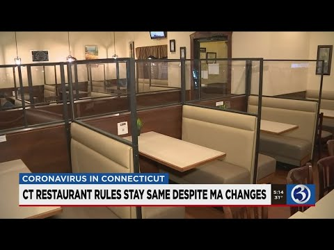 VIDEO: Mass. to lift early closure order for restaurants; Gov. Lamont says not yet
