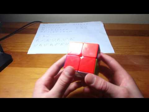 How to solve the 2x2 Rubik's Cube with two EASY algorithms