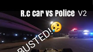 Arrma limitless vs police. BUSTED!  fpv- long range system-R.c car vs police.