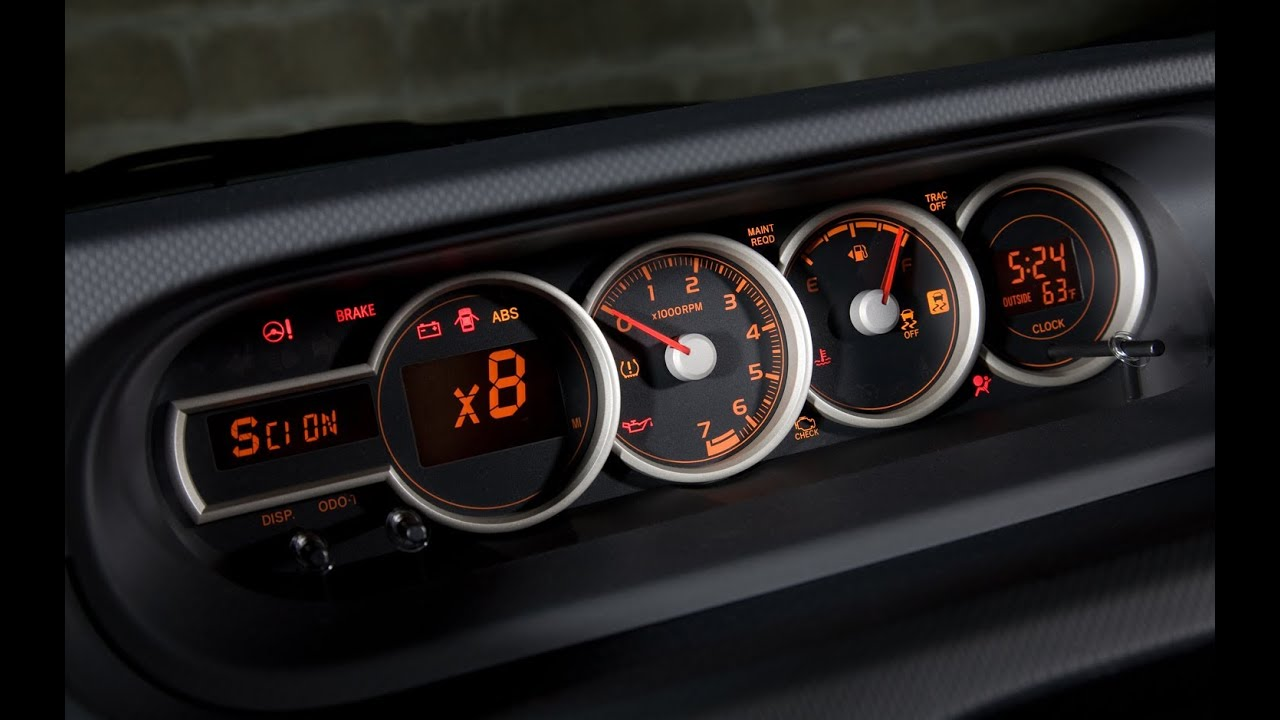 How To Reset The Maintenance Light On A Toyota Scion Youtube Dashboard Symbols For Cars