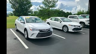 2018 vs. 2017 Toyota Camry LE Review & Start-up at Massey Toyota