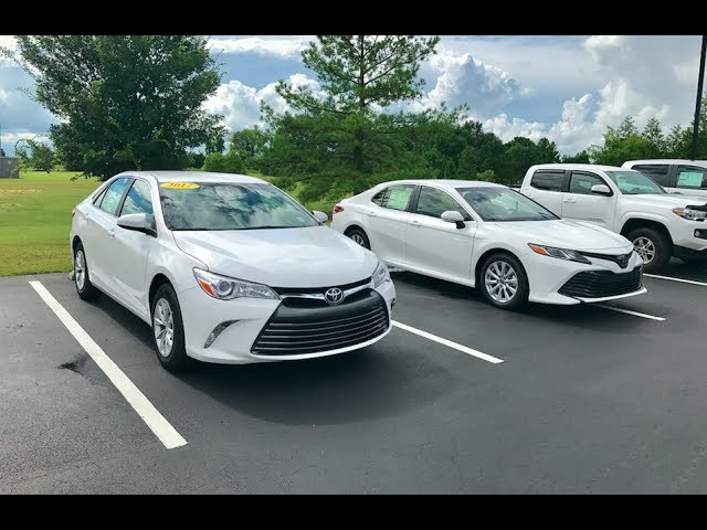 2018 Vs 2017 Toyota Camry Le Review Start Up At Massey Toyota