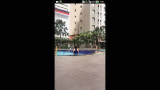 Bigo live cewe cantik main di kolam renang