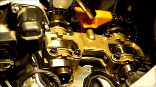 Valve shim adjustment on BMW F650 GS - method without removing cam chain tensioner