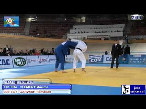 Judo 2010 World Cup Vienna: Maxime Clement (FRA) - Ramadan Darwish (EGY) [-100kg] bronze.