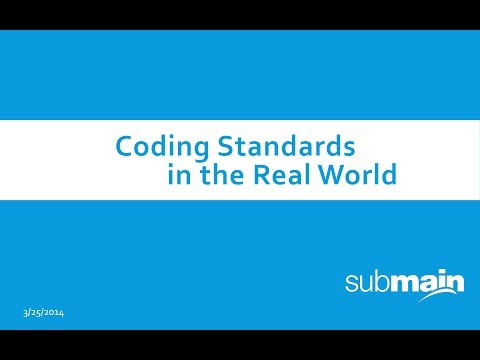 Webcast: Coding Standards in the Real World