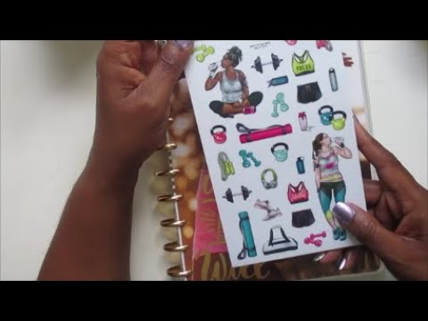 Healthy Hero || Happy Planner || Plan With Me || ft  Agenda 52 Girl Stickers