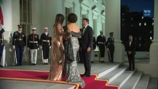 Italys Prime Minister Renzi Welcomed To White House