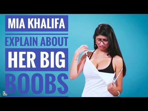Mia khalifa big boobs in blue shirt Mia Khalifa Explains 9 Reasons Why Having Big Boobs Youtube
