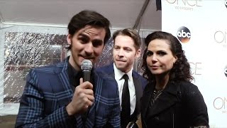 OUAT's Colin O'Donoghue, Sean Maguire & Lana Parilla on the 100th Ep Red Carpet