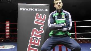 'fighter In The Ring' - Joe Ward Apb Boxer At The National Stadium Dublin