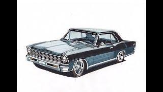 Рисуем 1967 CHEVROLET NOVA SS speed paint