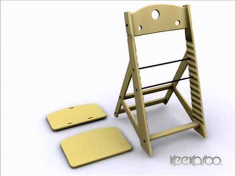 keekaroo high chair shabby chic nursing adjustable assemble keekaroocom 480 x 360 youtube