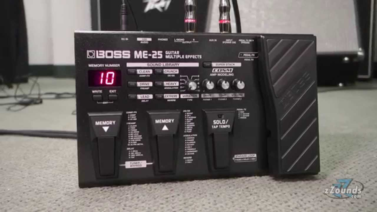 boss me 25 guitar multi effects pedal youtube. Black Bedroom Furniture Sets. Home Design Ideas