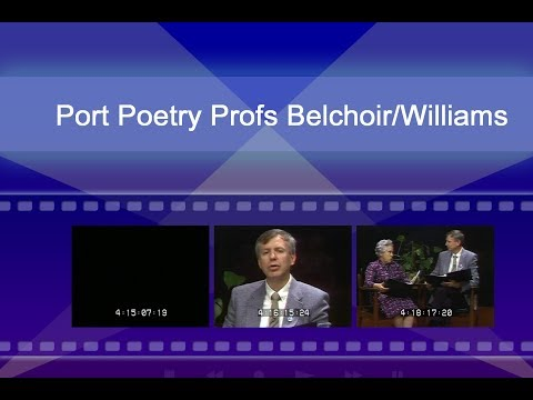 Portuguese Poetry with Professors Belchoir and Williams