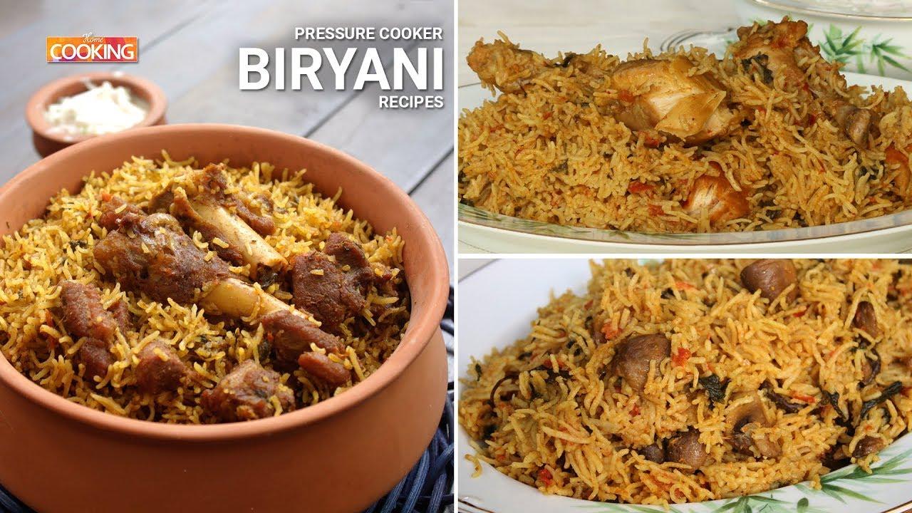 Pressure Cooker Biryani Recipes Ventuno Home Cooking Youtube