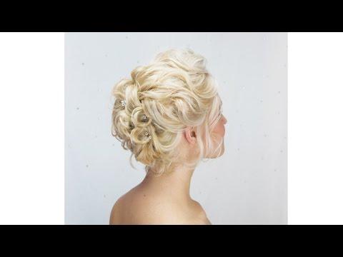 Wedding Hair Video Short Hair Updo Youtube