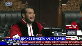 Suasana Jelang Ketua MK Tutup Sidang Sengketa Pilpres 2019