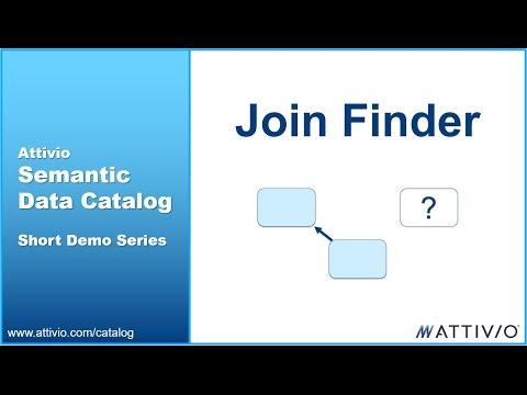 Attivio Semantic Data Catalog Patented Join Finder