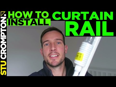 how to install a curtain rail like a pro