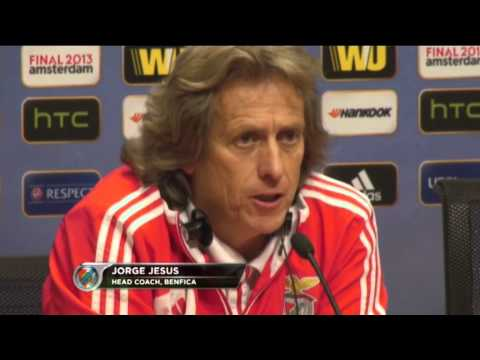 Benfica vs Chelsea - Luisao & Jorge Jesus press conference
