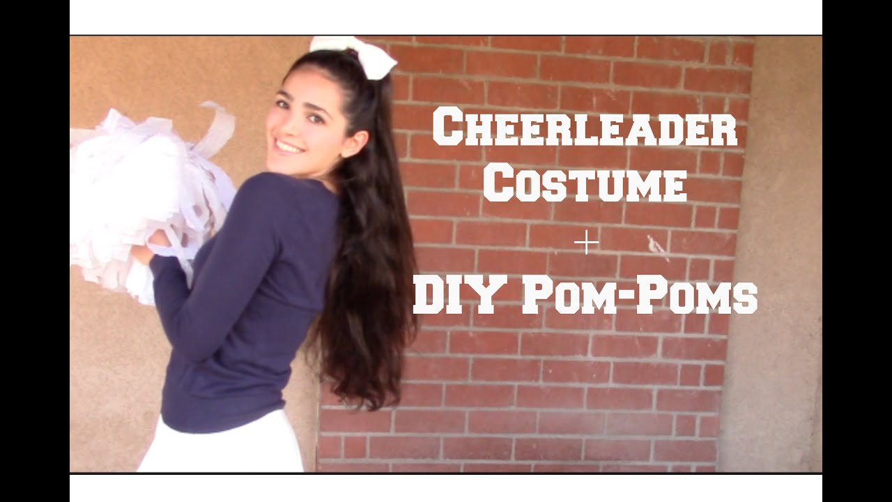 Cheerleader costume diy pom poms youtube solutioingenieria Images