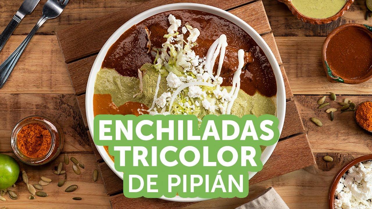 Enchiladas Tricolor de Pipián | Kiwilimón
