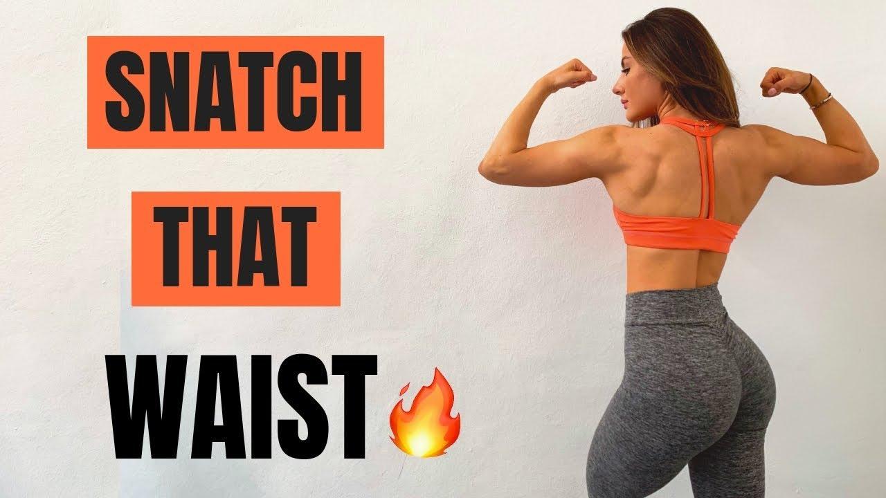 Let's SNATCH THAT WAIST & SCULPT THAT BACK   Full Workout