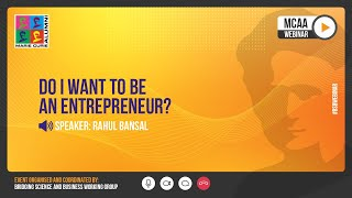 BSB-webinar: Do I want to be an entrepreneur?