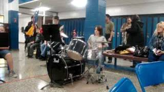 Selden Middle School Jazz Band Drummer Playing Fat Burger