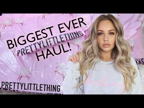BIGGEST EVER PRETTYLITTETHING TRY ON HAUL | Lucy Jessica Carter AD