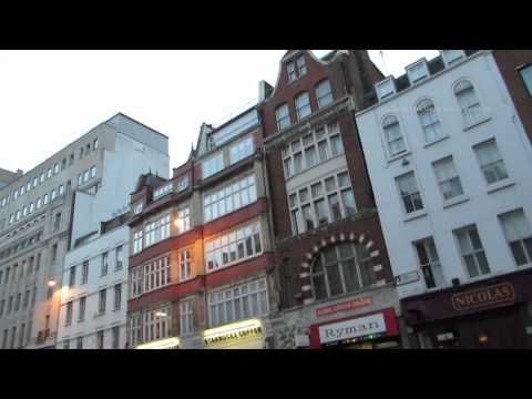 Evening Walk along Fleet Street in The City of London