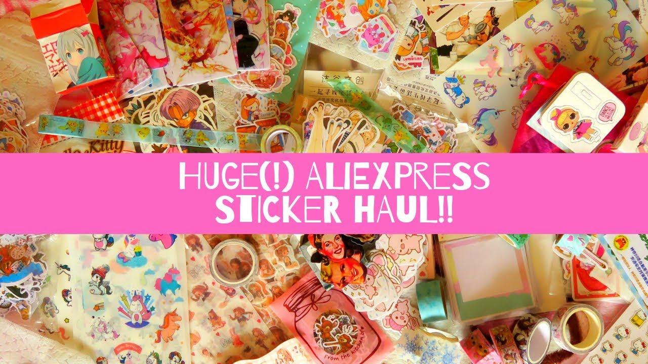 HUGE AliExpress Sticker and Washi tape Haul!