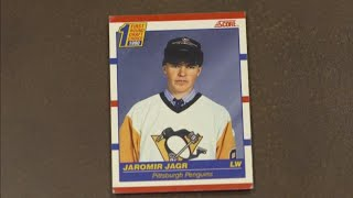 Cardboard Legends: Jaromir Jagr's pre-mullet rookie card