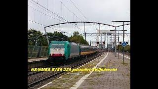 NS/NMBS E186 226 passeert Zwijndrecht