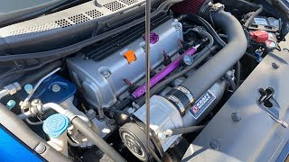 Supercharged Civic Si VS Stage 2 Subaru STI