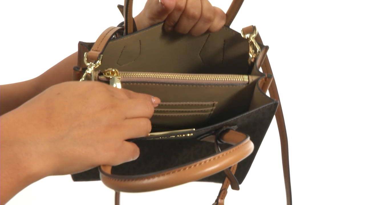 c5137a37b68 MICHAEL Michael Kors Mercer Medium Messenger SKU 8954728 - YouTube