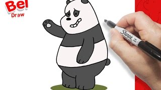 تعلم الرسم | كيف ترسم باندا بالخطوات | الدببة الثلاتة