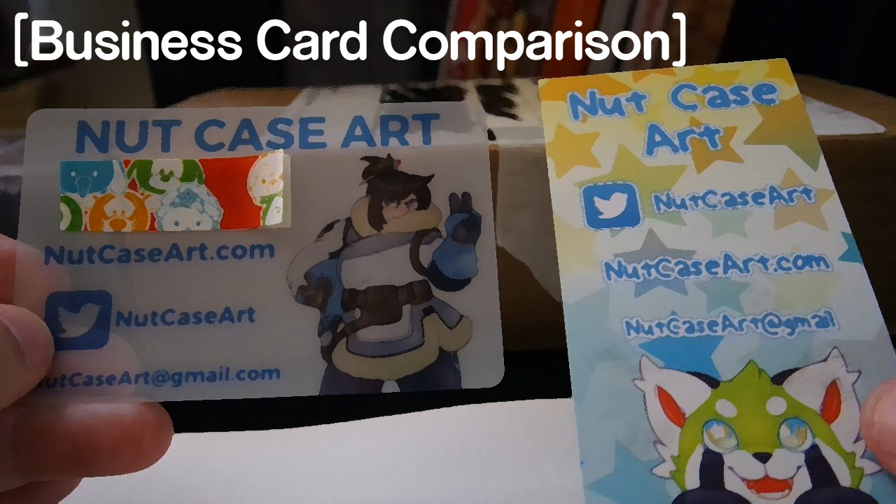 Business Card Comparison - YouTube