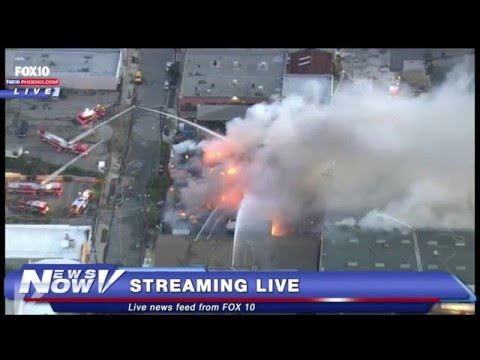 FNN: Massive Fire in Glassell Park Neighborhood of  Los Ange