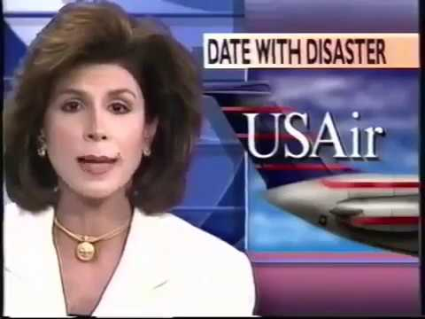 US Air Flight 427 Crash Pittsburgh News Footage (1994)