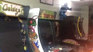 Gametime controlled by Alexa galaga centipede streetfighters Pac-Man pinball