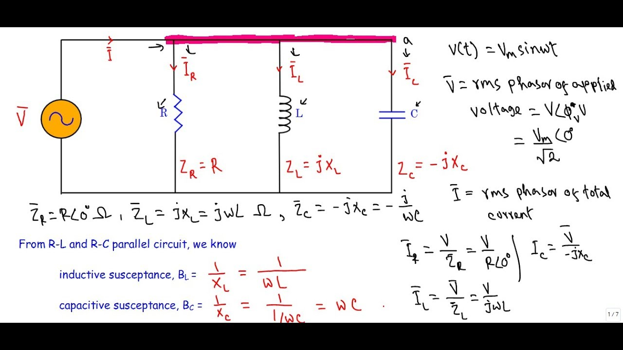 hight resolution of r l c parallel ac circuit