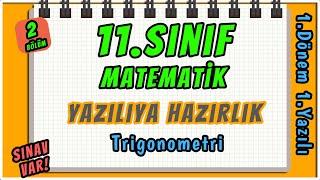 11. Sınıf Matematik  1. Dönem 1. Yazılıya Hazırlık 2 BÖLÜM REHBER MATEMATİKsınavvar