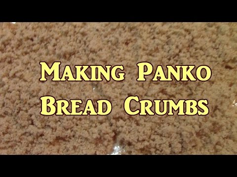 Making Panko Bread Crumbs