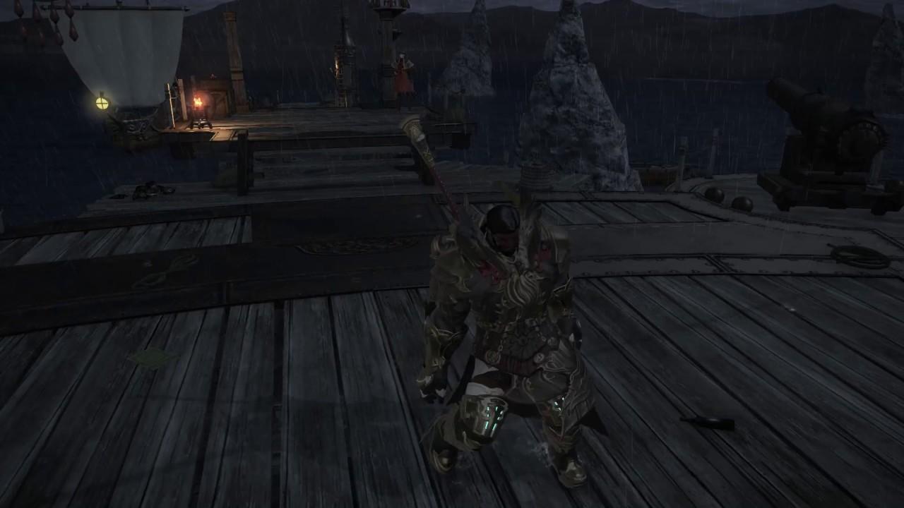 FFXIV Play Dead Male Roegadyn
