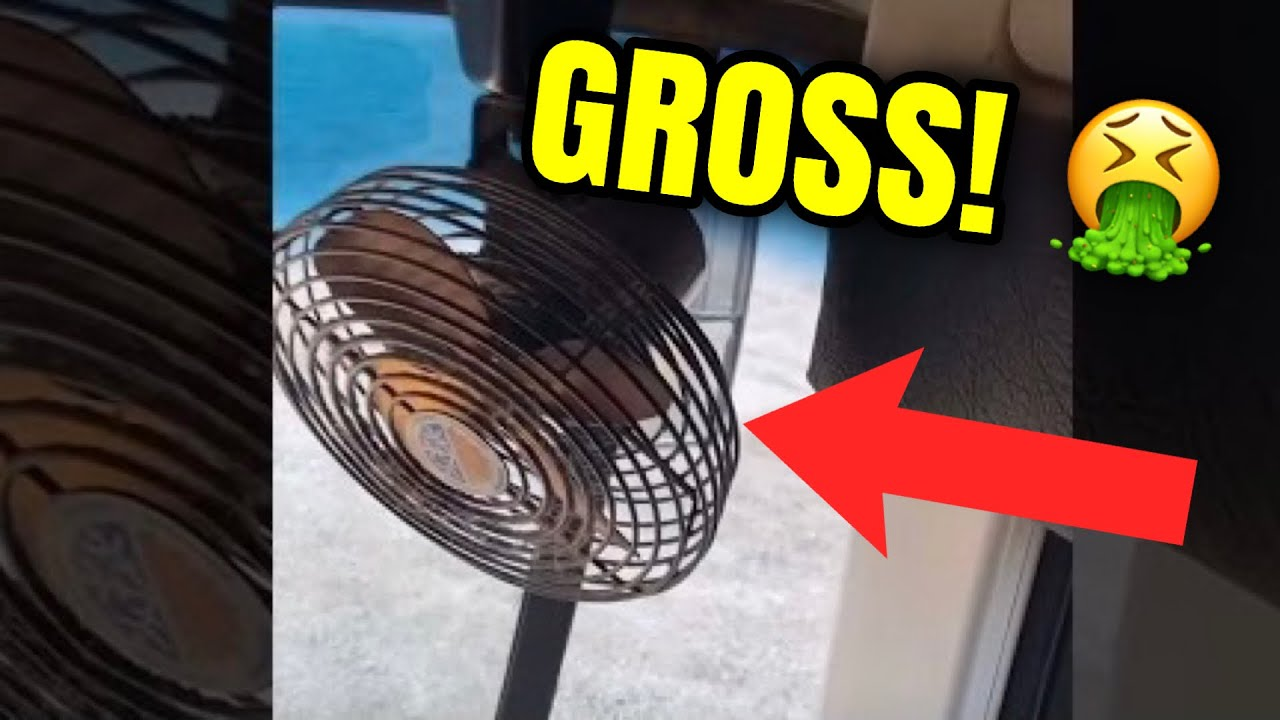 Cleaning My DISGUSTING School Bus Fan! (Satisfying)